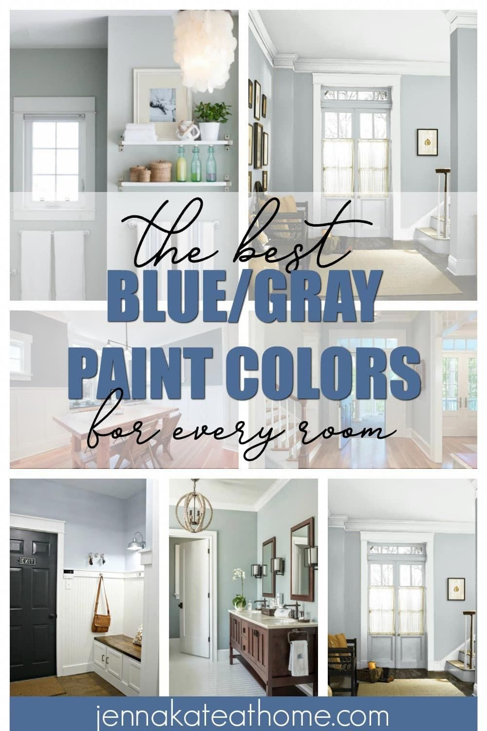 Shades of blue gray paint are totally on trend and shown