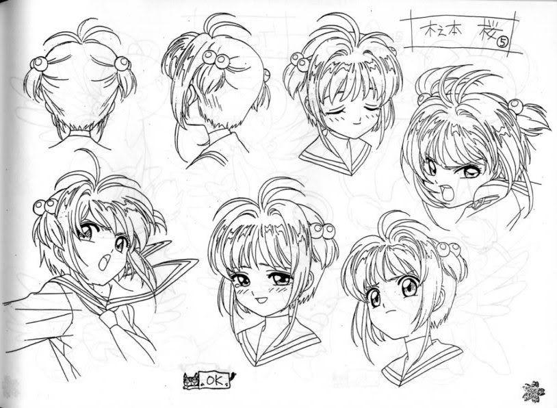 sakura card captor character design - Google Search | drawing ...