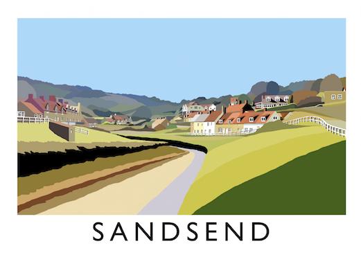 Sandsend art print