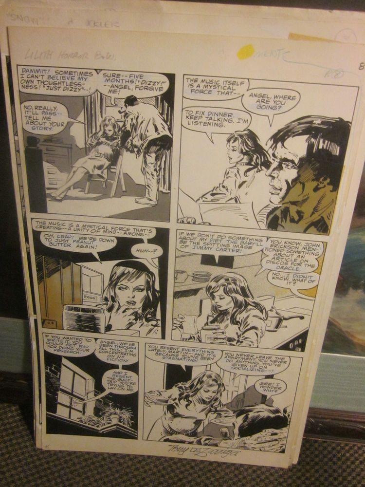 Lilith Horror TONY DEZUNIGA signed Original Comic Art: Marvel Preview 14 Pg 45