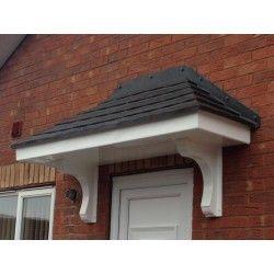 Single door dual pitch roof canopy (With images) | Door ...