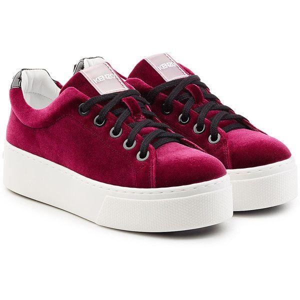 Kenzo Velvet Platform Sneakers ($265