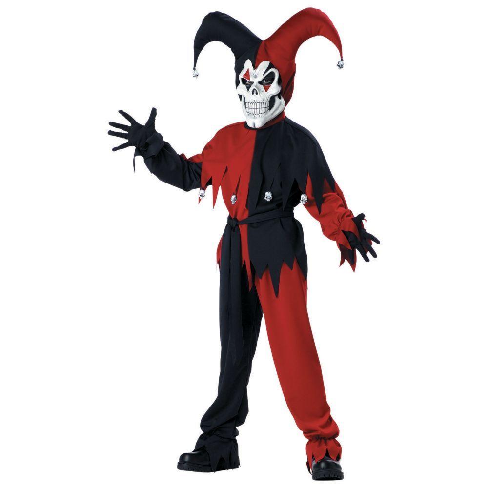 Evil Jester Boys Halloween Costume - Medium