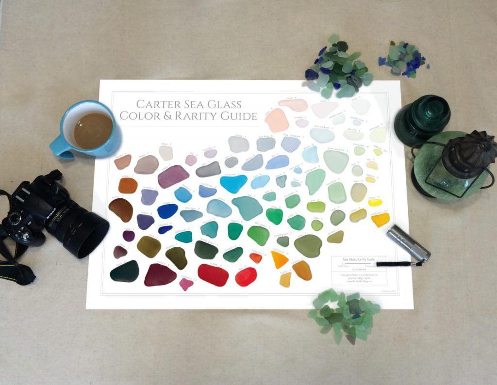 Laminated carter sea glass color and rarity guide sea