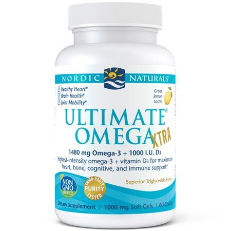 Nordic Naturals Ultimate Omega Xtra Softgels 1480 Mg 60 Ct