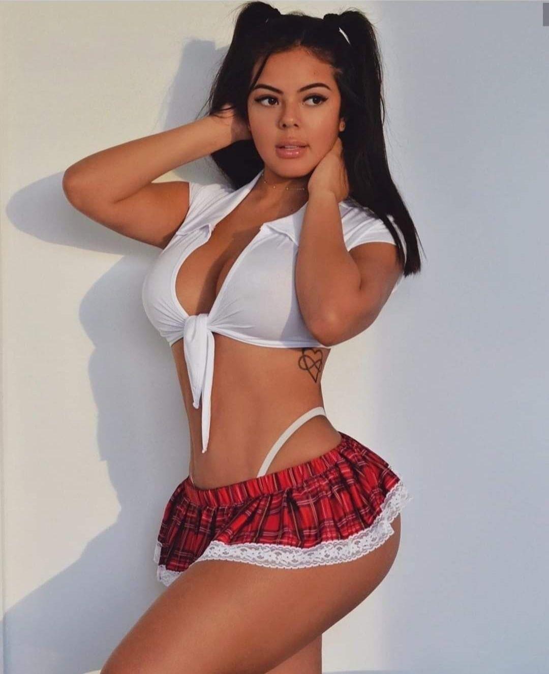 Naughty Latina School Girl