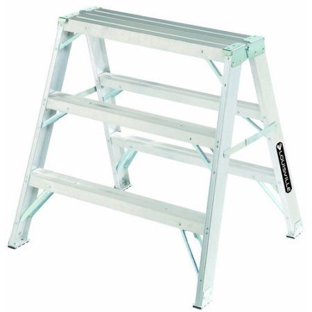 Swell Louisville Ladder L 2032 03 3 Aluminum Saw Horse Type Ia Pabps2019 Chair Design Images Pabps2019Com