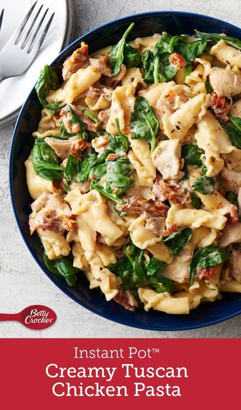 Winner, winner chicken dinner! This meal really shows off the talents of our favorite electric pressure cooker. Just combine ingredients, seal, and the Instant Pot™ does the rest. Stir in spinach and cheese before serving, and this delicious dinner is done.