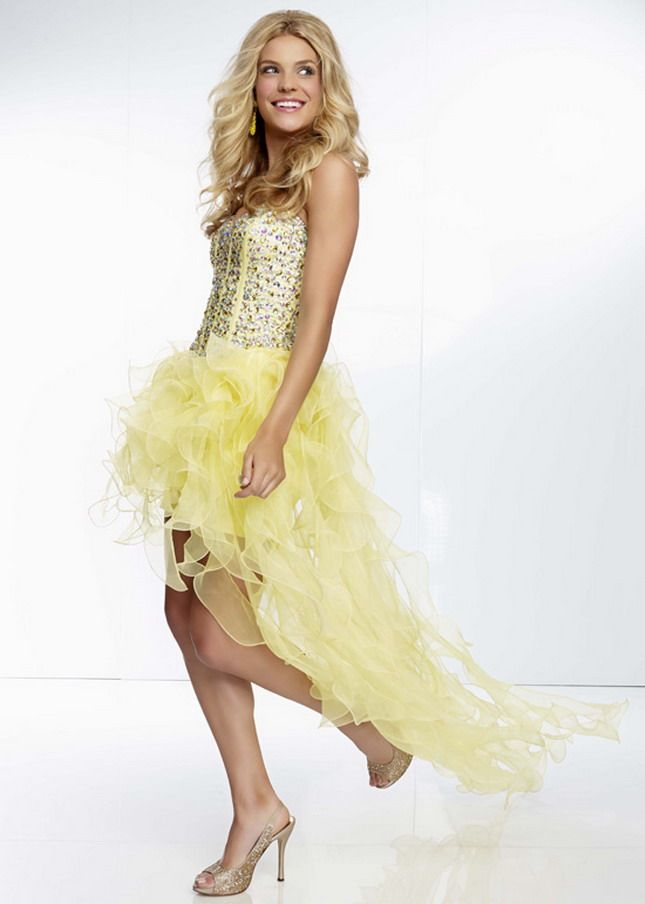 Jewel Beaded Organza Prom Dress