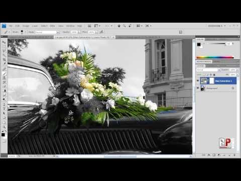 Photoshop cs4 black white w color accents youtube