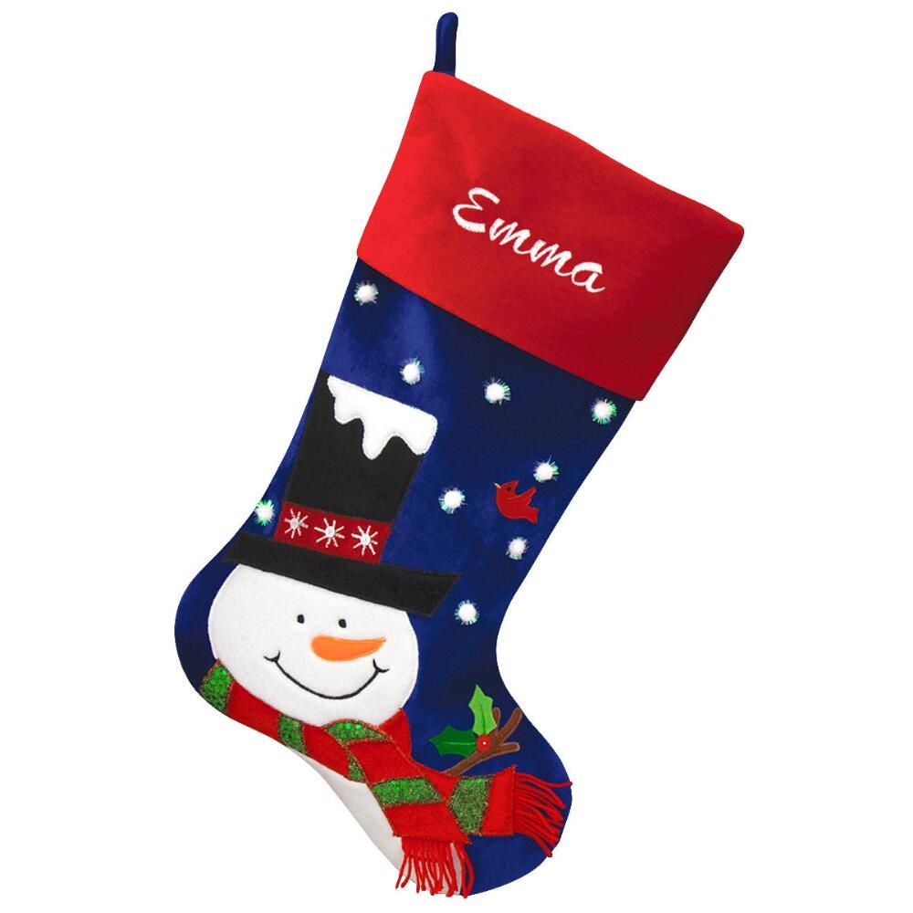 24 Inch Personalized Blue And Red Velvet Stocking With ...