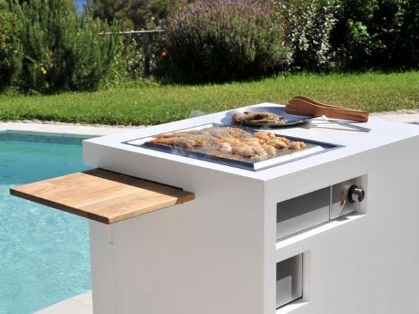 Mini Küche grillen pool asziehbares holzbrett garten in 2019 ...