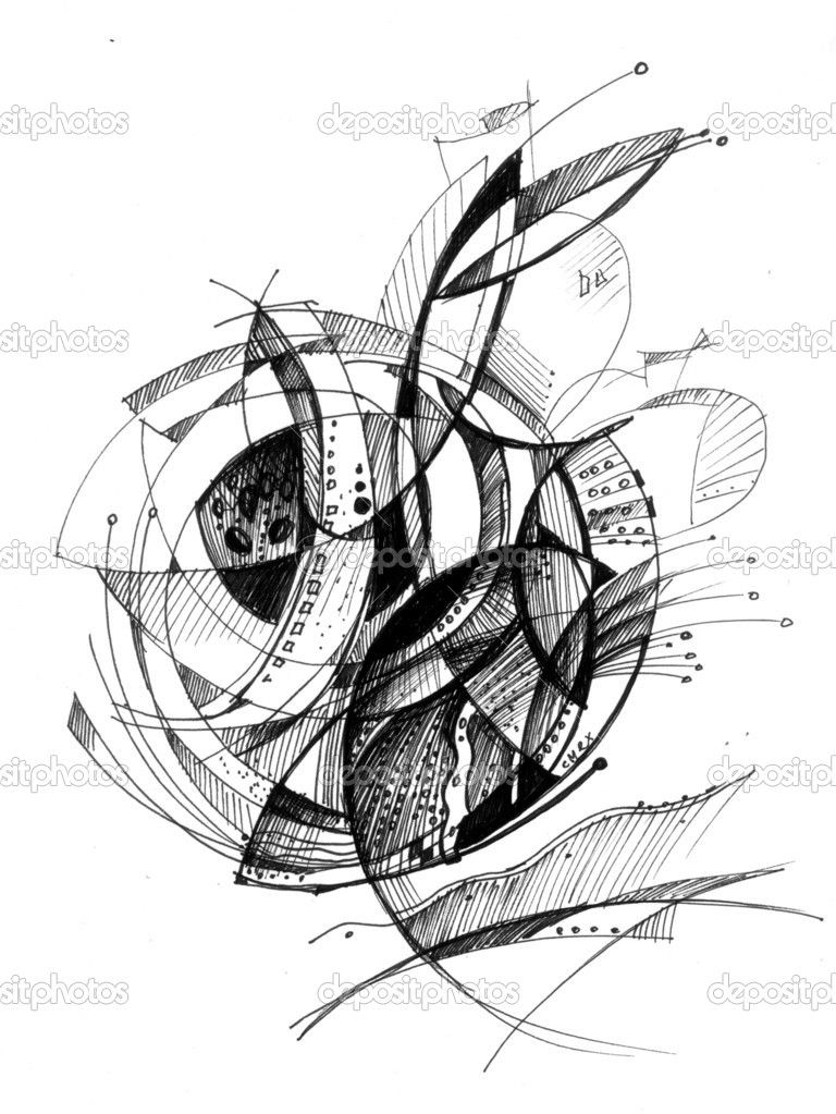 Apple Abstract Drawing Stock Photo 7235934 Abstract