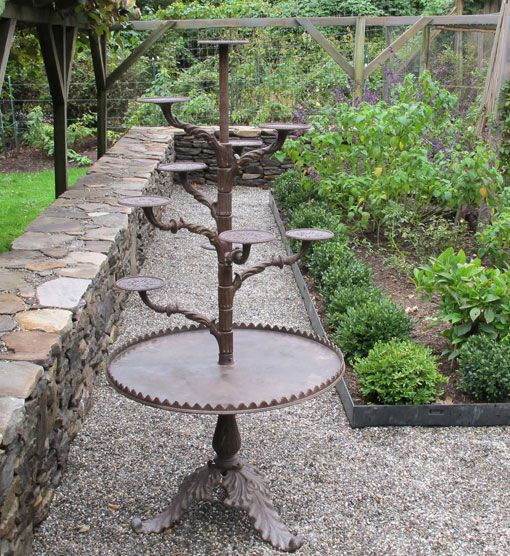 Cast Iron Antique Plant Stand 1900 Outdoor Metal Plant