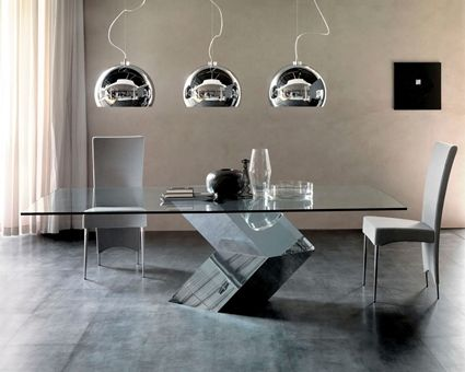Mesa de vidrio minimalista mesas pinterest mesas de for Comedor moderno minimalista