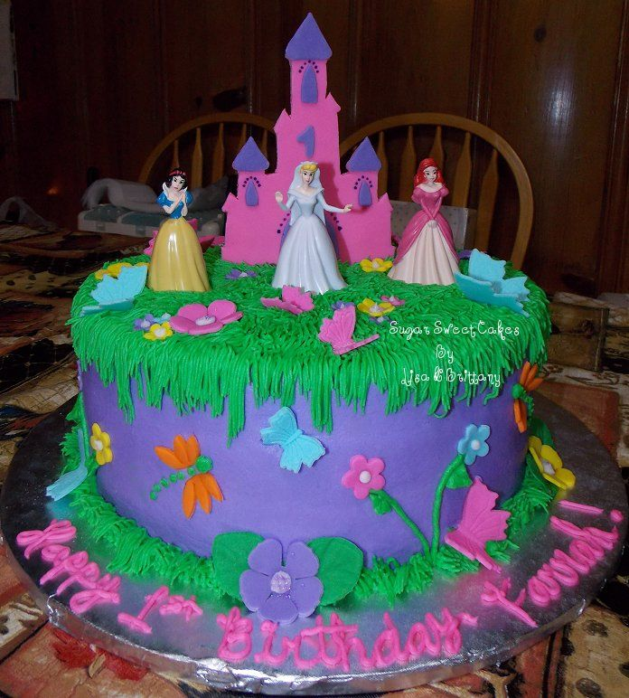 Asda Princess Cake Decorations : Disney Princess - 3 layer, 10
