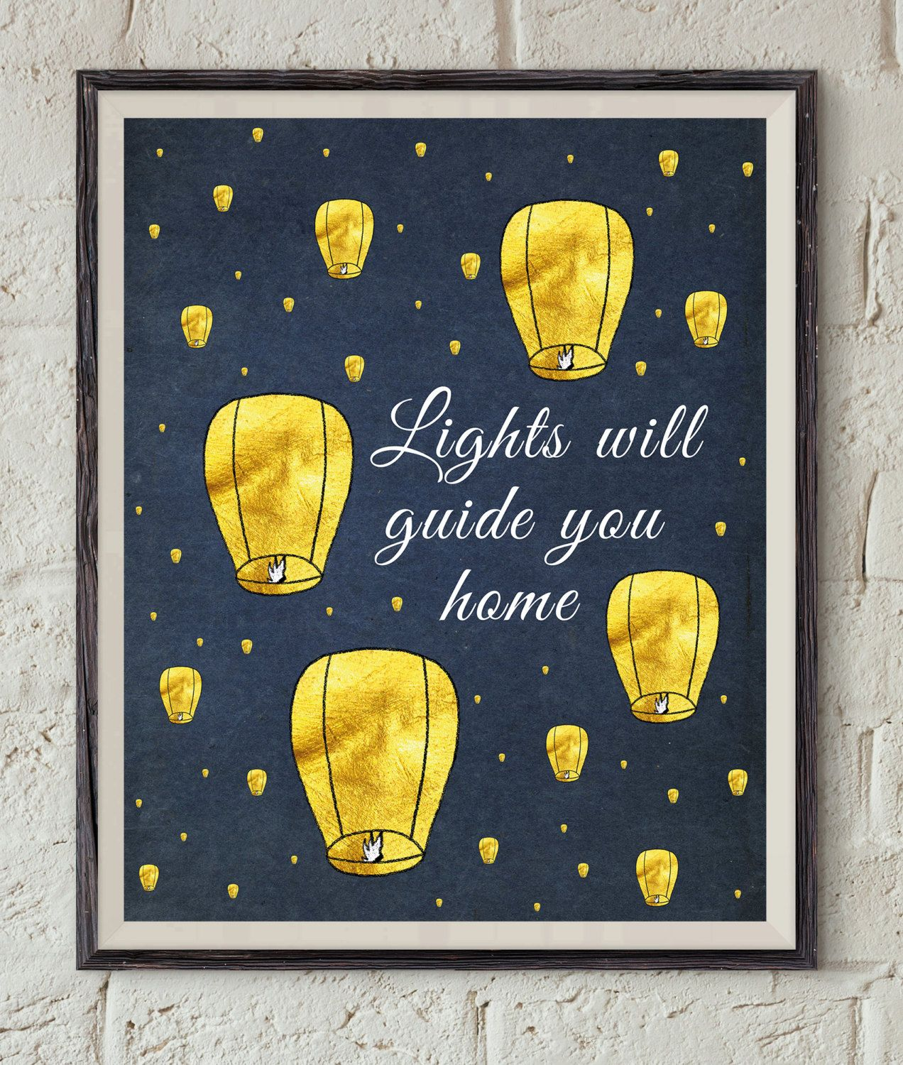 Coldplay Song Lyrics - Lights Will Guide You Home - Paper Lantern Art - Lyrics Printable - Music Wall Art - Fix You Quote Art - Song Print by Lepetitchaperon on Etsy
