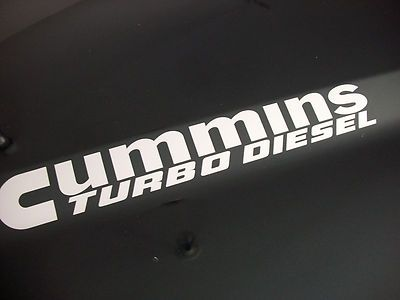 Pair Cummins Turbo Diesel Vinyl Hood Decals Stickers Dodge