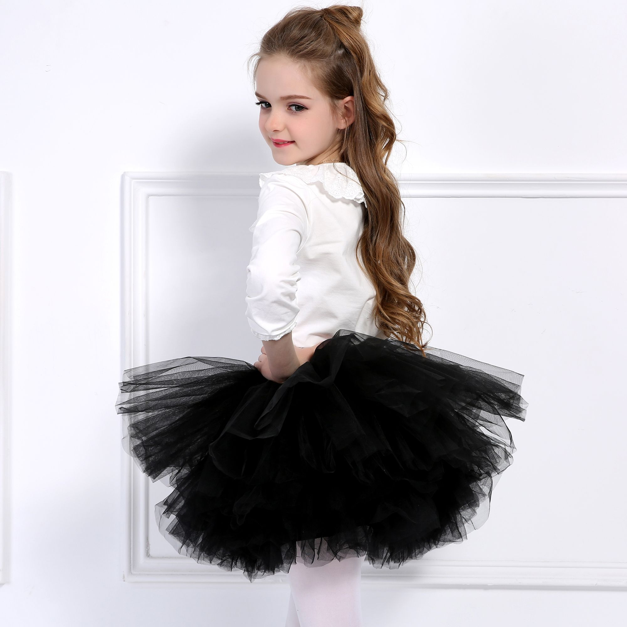 a16c847c2 Find More Skirts Information about 6 Layers Extra Fluffy Baby Girls ...