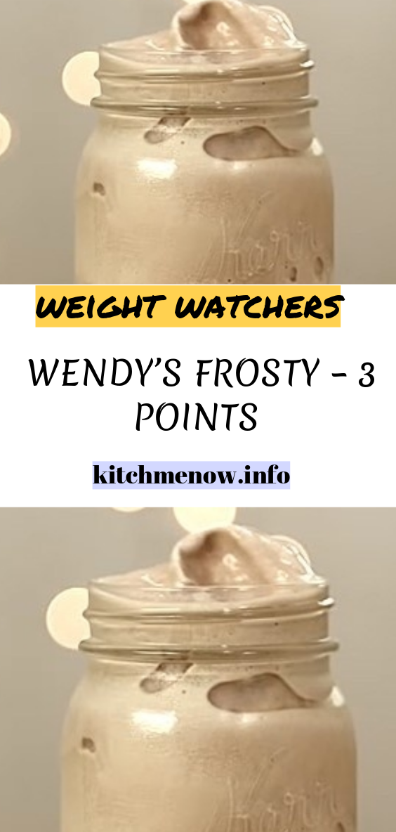 How To Make A Wendy S Frosty 3 Points Weightwatchers Weight Watchers Healthy Skinny Food Rec Weight Watcher Smoothies Weight Watchers Recipes Desserts