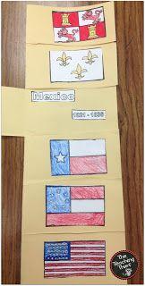 The Teaching Thief Six Flags Over Texas A Flip Book Texas History Classroom Flip Book Social Studies