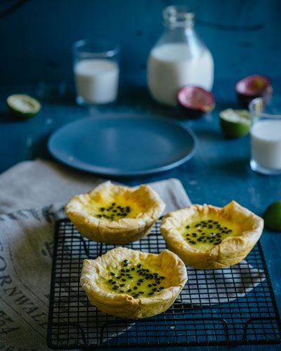 Passionfruit & Lime Custard Tarts