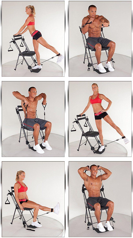 amazoncom chair gym total body workout chair gym black sports
