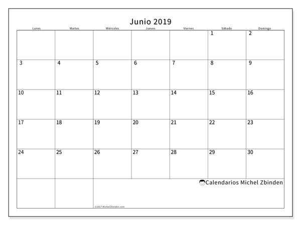 Calendario Escolar Madrid 202018.Calendario Junio 2019 53ld Calendario Para Imprimir Calendario