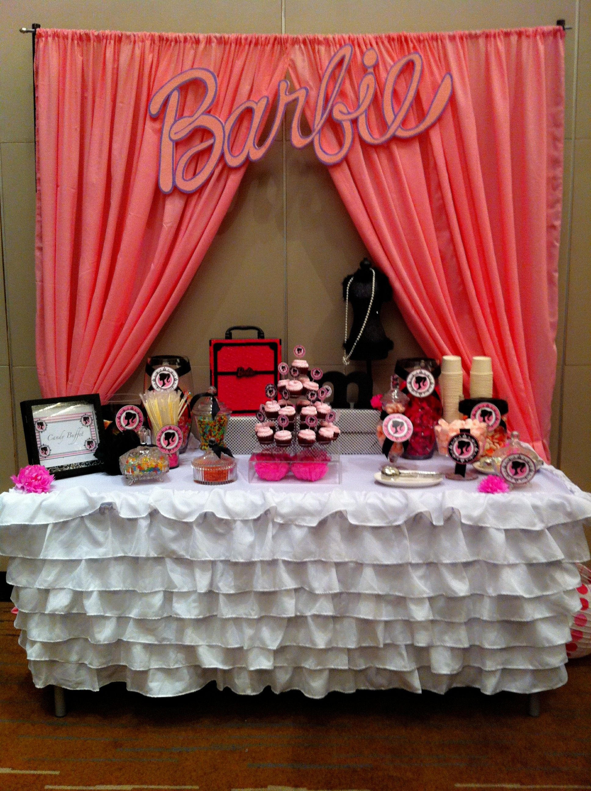 Magnificent Vintage Barbie Candy Buffet By Sweets N Treats Interior Design Ideas Clesiryabchikinfo