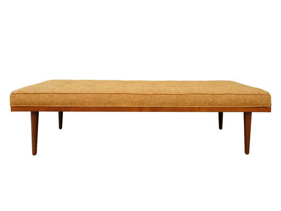 Our perfectly fitted mid century modern style bench is ideal for a