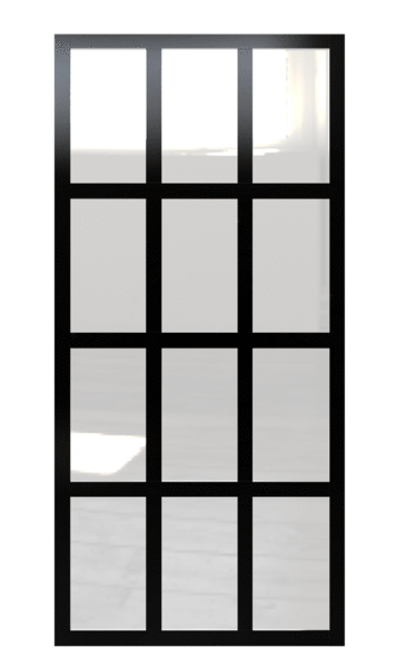 Gridscape Gs1 Fixed Panel Factory Window Room Divider Partition In Black And Clear Glass Room Divider Wood Room Divider Window Room