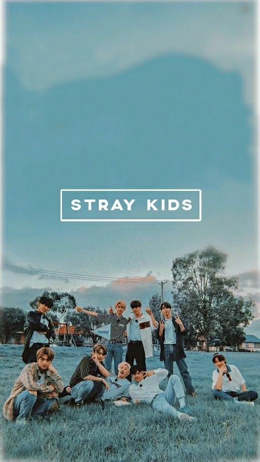 Stray Kids Blue Wallpaper Kids Background Kids Wallpaper Kpop Posters