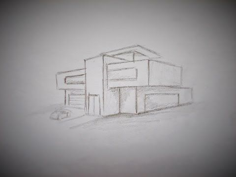 How To Draw A Modern House Youtube Architecture Drawing