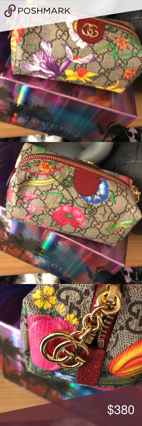 Floral Gucci pouch NWT (With images) Gucci pouch, Gucci