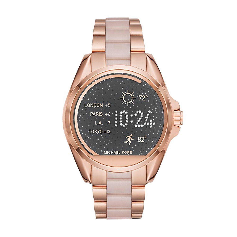 5b36c93ec693 Amazon.com  Michael Kors Access Touchscreen Rose Gold Acetate Bradshaw Smartwatch  MKT5013  Watches