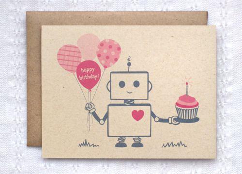 Happy birthday 19 tumblr buscar con google invitations birthday card robot pink brown happy birthday by happydappybits bookmarktalkfo Images