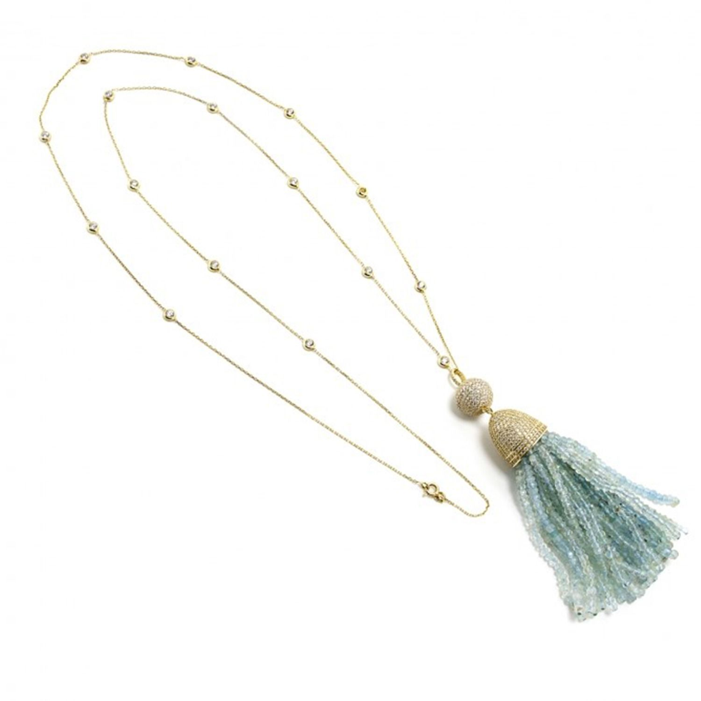 Latelita London Tassel Ball Necklace Labradorite Ry5v5duyQ