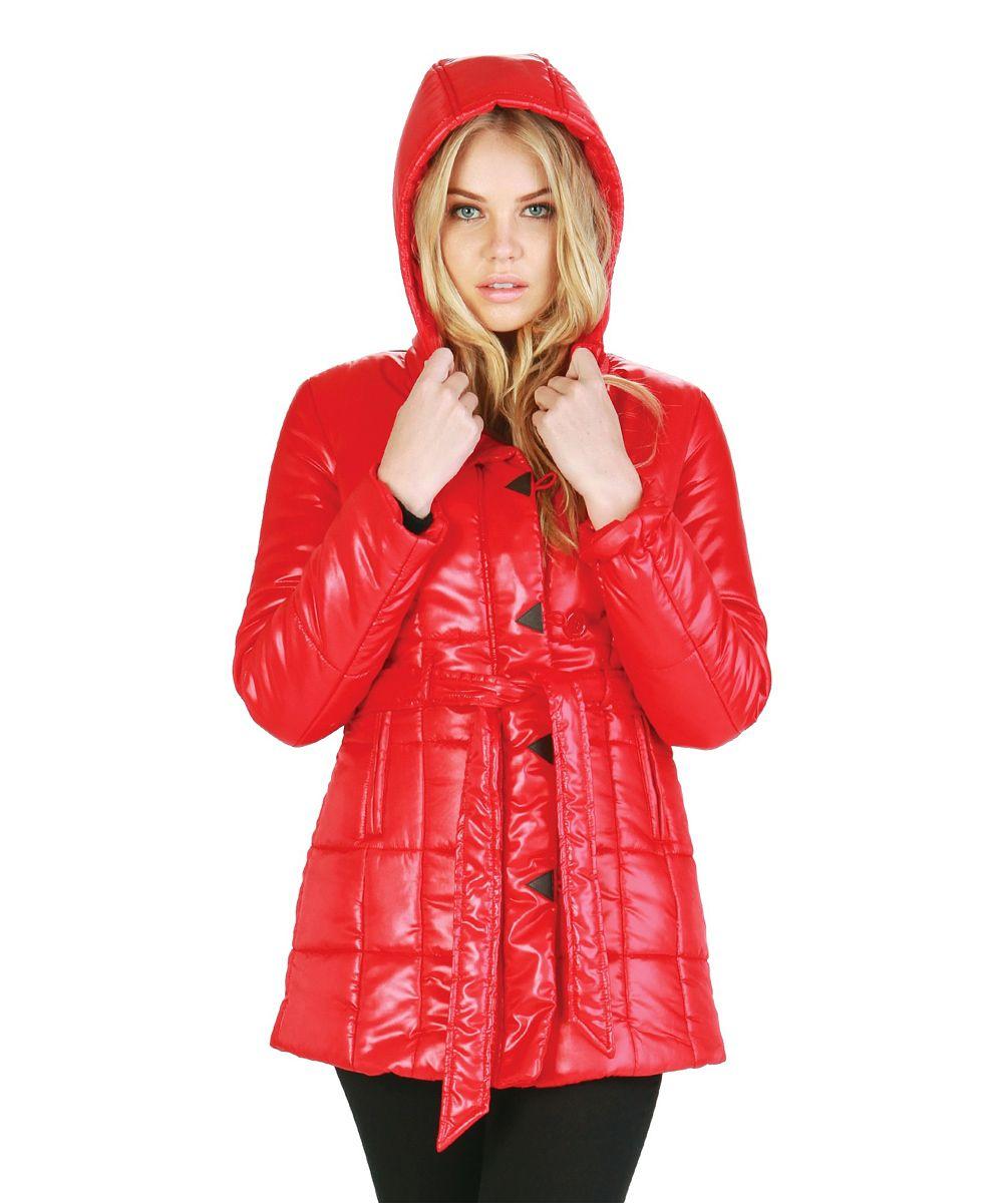 46f8470cacf Red Apple Belted Puffer Coat | Favorite fashion | Coat, Raincoat ...