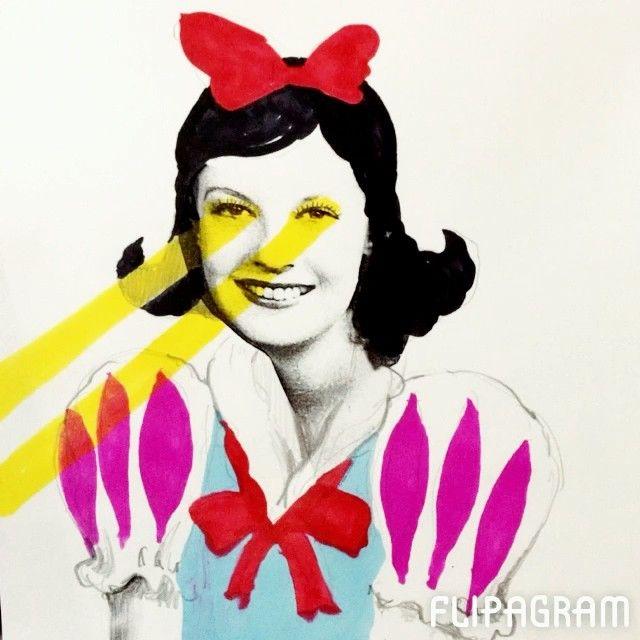 きのうのトキメキを言い触らす白雪姫候補生 #flipagram #illust #instacool #instagood #instagram #illustagram #illustration #イラスト#ラクガキ