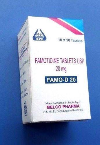 Otc Famotidine Mg Tablet Acid Reflux Reducer Heartburn Gastritis Spc