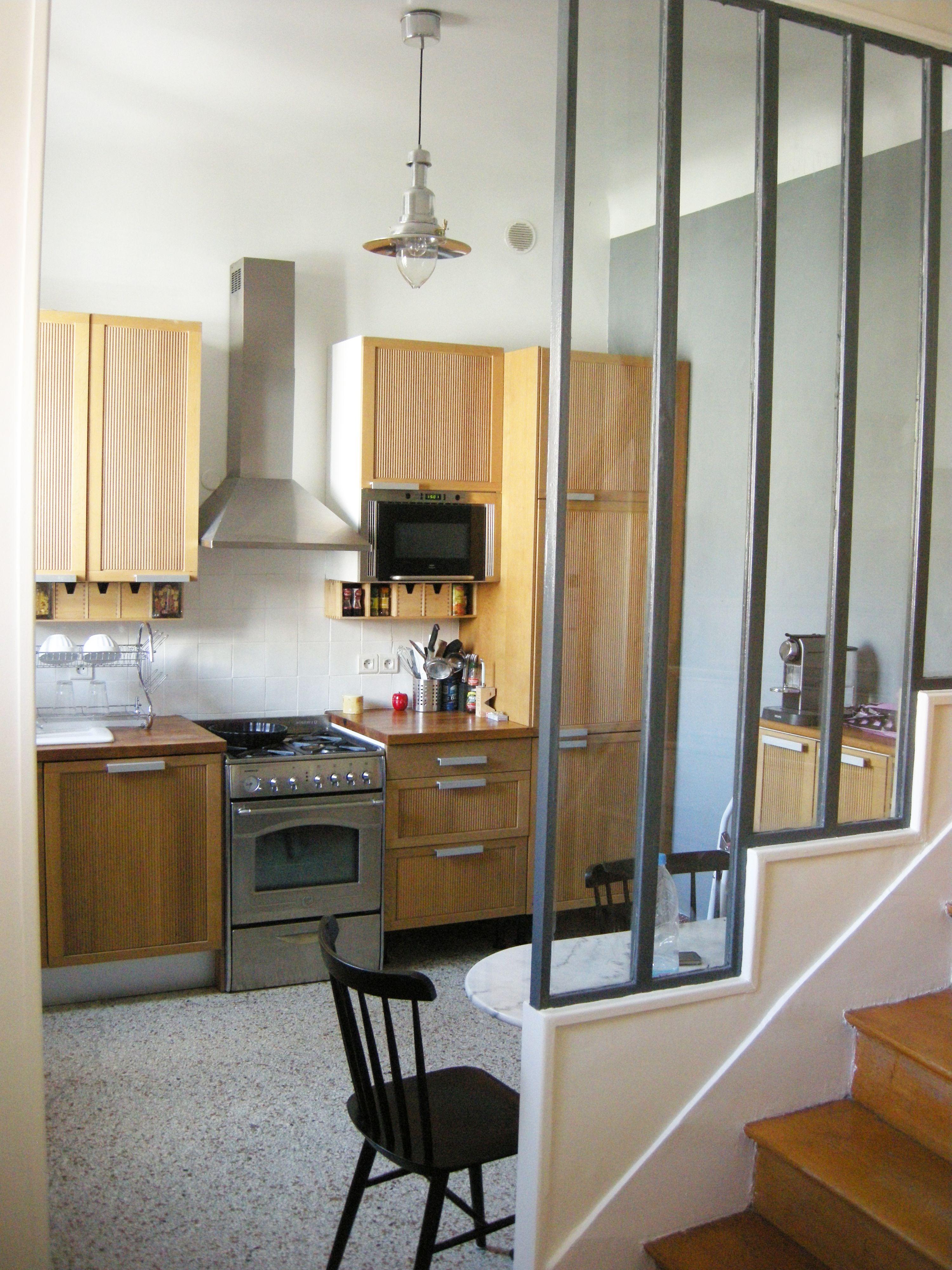 r novation cuisine style industriel dans une maison en banlieue parisienne r alis par www. Black Bedroom Furniture Sets. Home Design Ideas