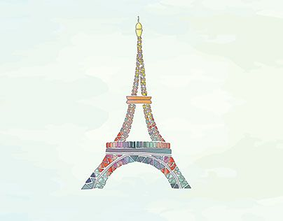 """Check out new work on my @Behance portfolio: """"Hues of EiffelTower"""" http://be.net/gallery/33915468/Hues-of-EiffelTower"""