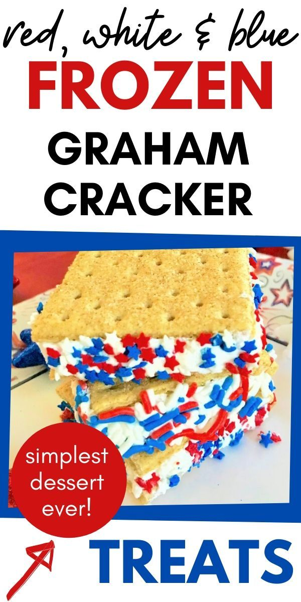 Patriotic Red, White and Blue Graham Cracker Frozen Treat - A Hundred Affections