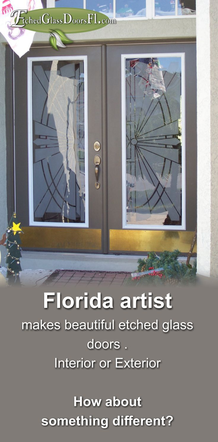 Glass Etching With A Modern Southwest Geometric Design. Wesley Chapel,  Florida. Tampa,