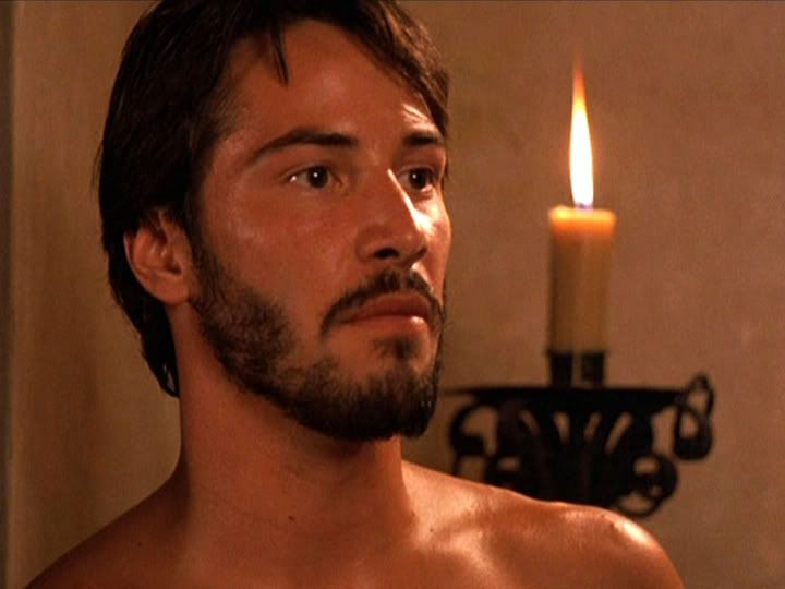 WHY DO WE LOVE KEANU? Because he realy does look lovely by candlelight...even when he's playing the grumpy bad guy. :) (chicfoo) keanu