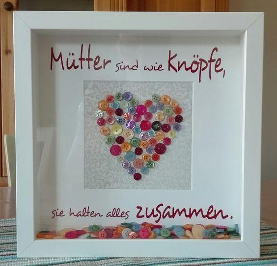 Mütter sind wie Knöpfe, Muttertag, Herz, Ribba, Vinyl, Cameo #father