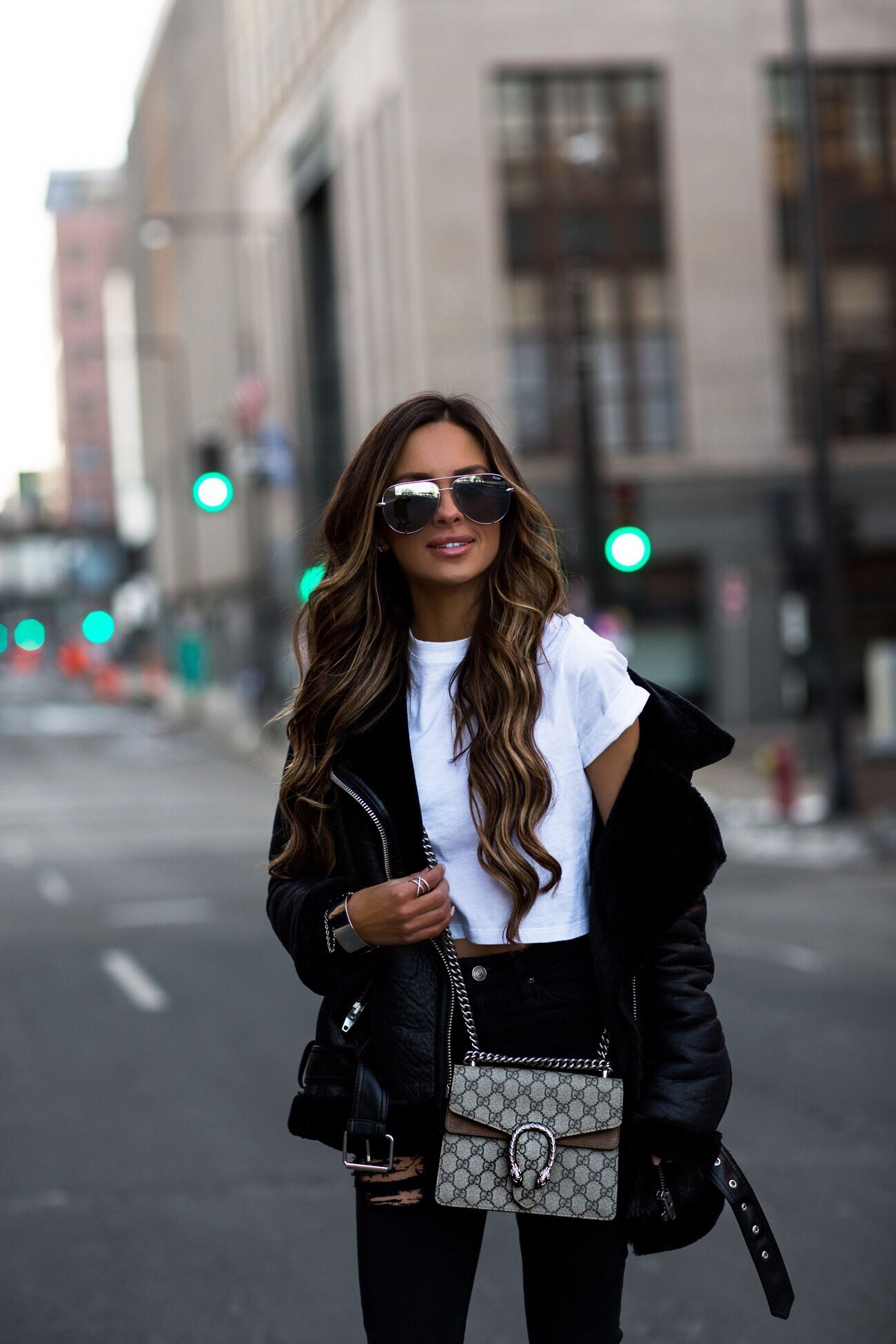 3dccdbe179ef fashion blogger mia mia mine wearing a karla x hanes crop top and a gucci  dionysus bag