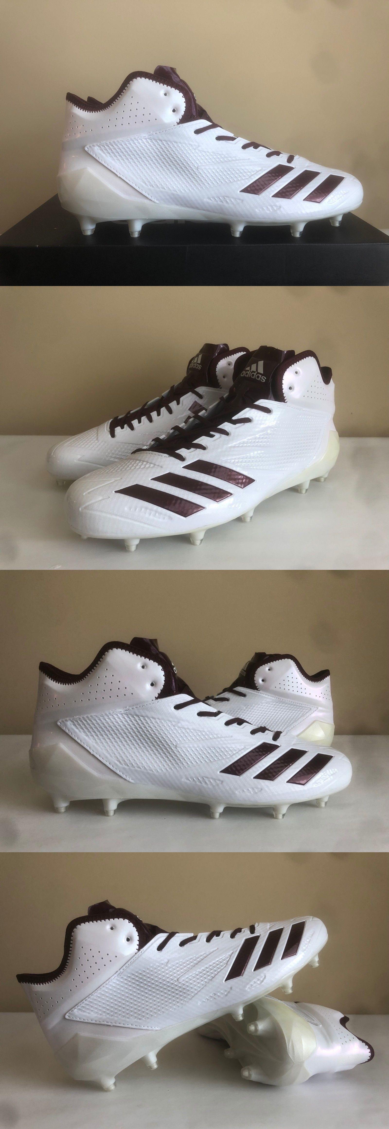 wholesale dealer 18e78 8330c Football 21214  Adidas Adizero 5-Star 6.0 Mid Football Cleats Bw1088 White  Maroon New!   Sz 11 -  BUY IT NOW ONLY   34 on  eBay  football  adidas   adizero ...