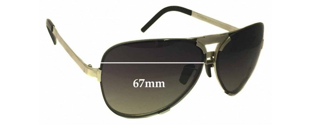 308373baa0c Sunglass Fix Replacement Lenses for Porsche Design P8678 - 67mm Wide   sunglasses