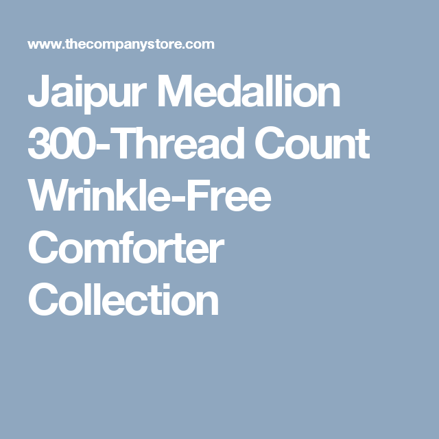 Jaipur Medallion 300-Thread Count Wrinkle-Free Comforter Collection